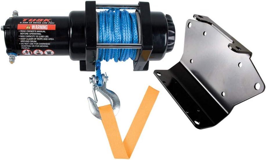 New QuadBoss 2500 lbs Synthetic Rope ATV Winch & Model Specific ...