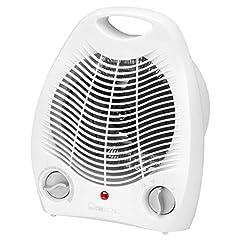 Clatronic värmefläkt HL 3378, 2 värmesteg (1000/2000 watt), kallsteg (fläkt), vit