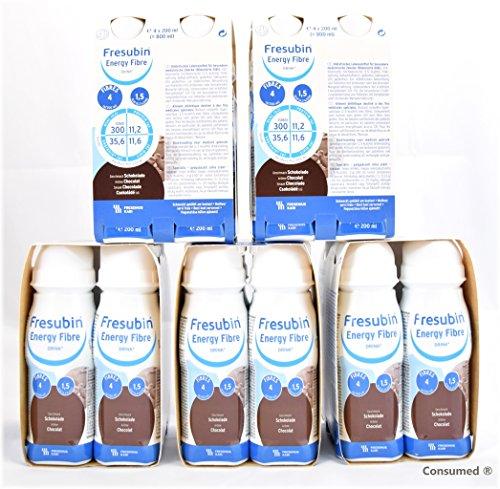 20x 200ml Fresubin Energy Fibre DRINK Schokolade - im exclusiven ConsuMed Bundle inkl. Produktplakat