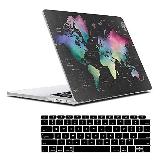 Lowest Price! Lapac MacBook Air 13 Inch Case 2020 2019 2018 Release A2179 A1932, World Maps Soft Tou...