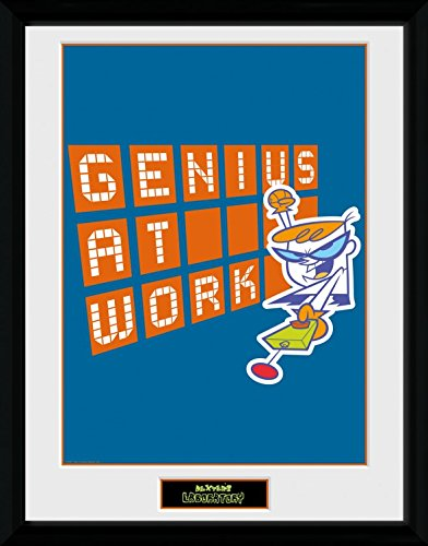 1art1 El Laboratorio De Dexter - Genius At Work Póster De Colección Enmarcado (40 x 30cm)