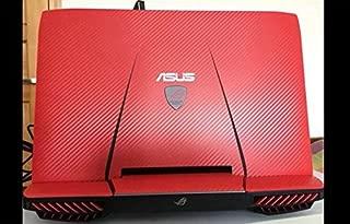 Waterproof Scratch Special Laptop Red Carbon fiber Skin Cover guard for ASUS G751 G751JY G751JT G751JM G751JL 17.3-inch nontouchscreen