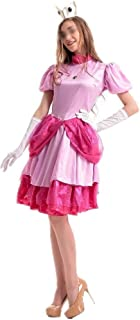 New Little Pink Costume Adult Cosplay Dress Party Nightclub Queen Service Cosplay Costume Party (Color : Pink, Size : One Size)