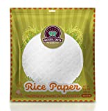 Natural Earth Products Rice Paper, Perfect Wrappers for Spring Rolls and Dumplings, Kosher Certified, Resealable Bag, 3.5 Oz (Single)