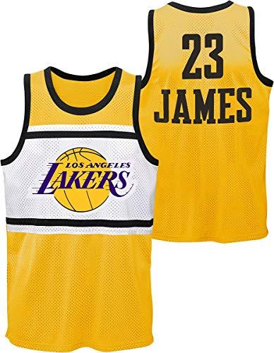 OuterStuff NBA Trikot Los Angeles Lakers Lebron James #23 Basketball Jersey Player Sublimated Shooter Tank Shirt (M)