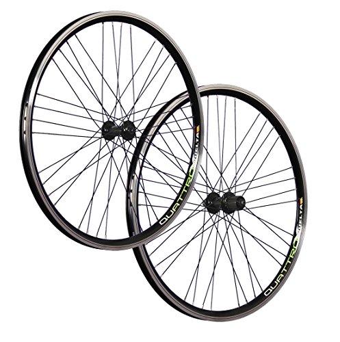 Vuelta 26 Zoll Laufradsatz (Vorderrad + Hinterrad) Quattro X Shimano Deore HB/FH-T610 schwarz