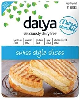 Daiya Swiss Style Cheese Slices, 7.8 Ounce -- 8 per case.