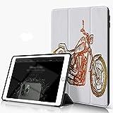 She Charm Étui Compatible avec iPad 9.7 2018/2017,Vélo Motocross Moto Personnalisé Moteur Sketchy...