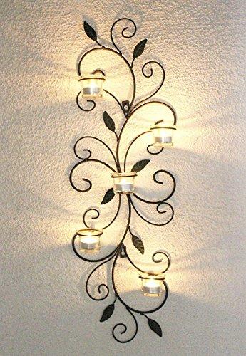 DanDiBo Wandteelichthalter 131001 Teelichthalter Metall 75cm Wandleuchter Kerzenhalter