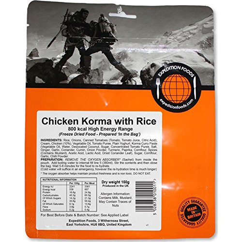 Expedition Foods Hühnchen-Reis Korma, indisch (High Energy Serving)