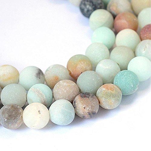 Amazonite Perlen 8mm Frosted * A Grade * Kugel Edelstein Natursteine Schmuckperlen Schmuckstein Perle Zum Fädeln G63