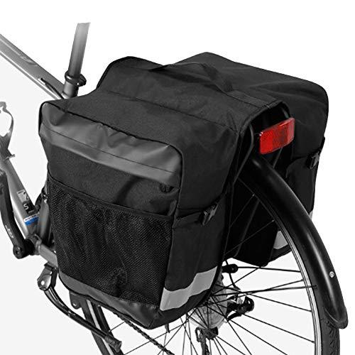 YAOBAO Sacoche à vélo Sacoches de vélo, 28L Banlieue Sac à Dos de Sac de Coffre à Bagages Grande capacité, Garniture réfléchissante à dégagement Rapide, Grandes Poches