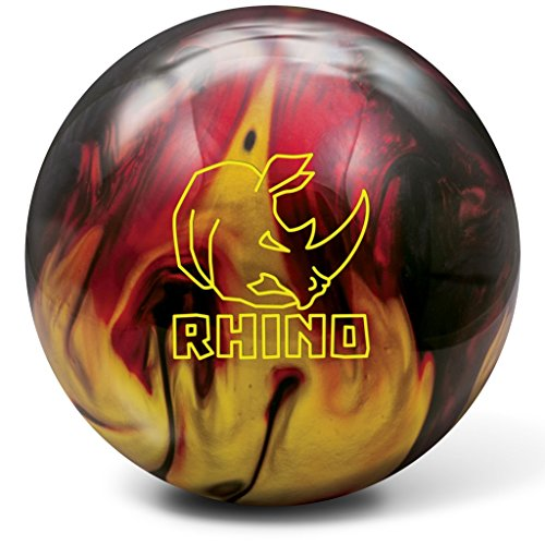 Brunswick Rhino Bowling Ball, Red/Black/Gold, 15 lb