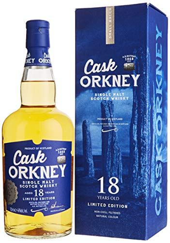 A.D. Rattray Cask ORKNEY 18 Years Old Single Malt Scotch Whisky Limited Edition mit Geschenkverpackung (1 x 0.7 l)