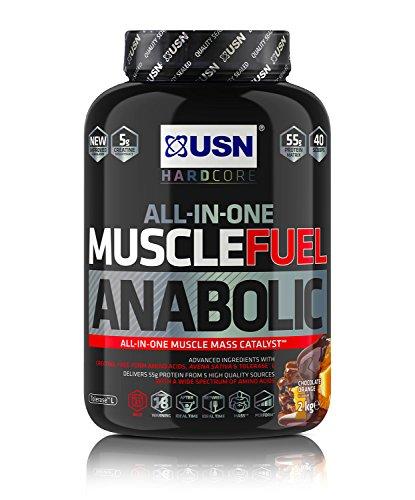 USN Muscle Fuel Anabolic Lean Muscle Gain Shake Powder, Chocolate Orange, 2 kg