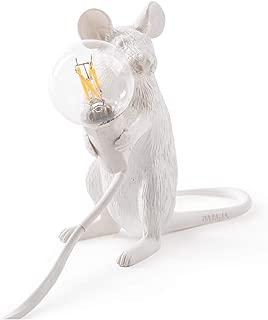XFENG Creative Mouse Resin Table Lamp Bar Cafe Bar Art House Retro Gallery Bedroom Bedside Lamp Office E12 LED Simple Desk Light