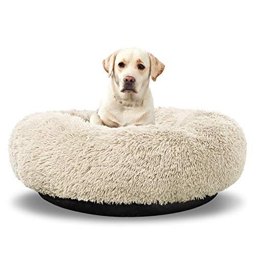 ANWA rundes Hundebett, waschbar, groß, Donut-Hundebett, für große Hunde, bequem, beruhigend