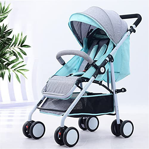 TONGQU Cochecito Ligera, Silla de Paseo portátil para bebé, Capacidad de Carga de 15 kg, arnés de Cinco Puntos, Asiento Ajustable, para niños de 0 a 4 años,Verde