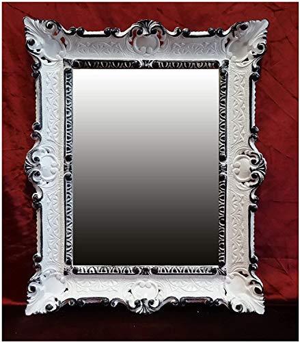 Renaissance Miroir mural REPRO ANTIQUE BAROQUE ARGENT VIEILLI 50X76 décoration