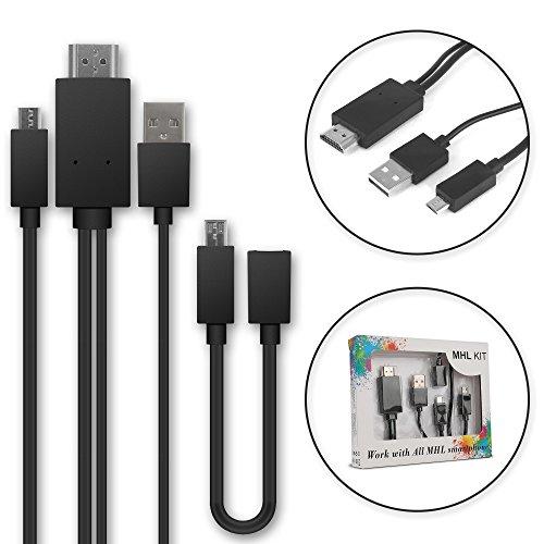 Cable MHL Micro USB al Adaptador de HDMI de 5 Pines + Adaptador de 11 Pines para teléfonos Inteligentes y tabletas de para Huawei, para Sony, para Samsung, para ZTE con Soporte MHL