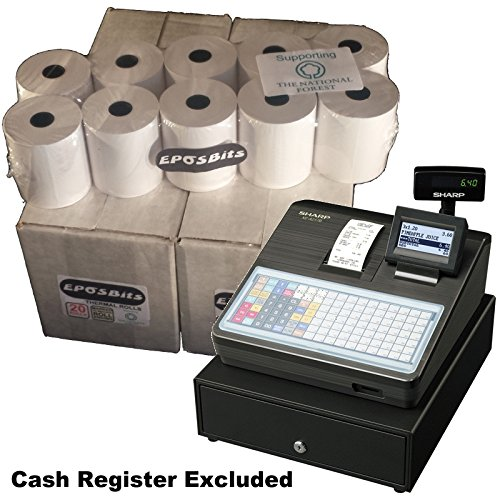 eposbits® Marke Rollen zu für Sharp xe-a217b xea-217b xea217b xea217xe-a217xea-217B Cash Register?40Rollen