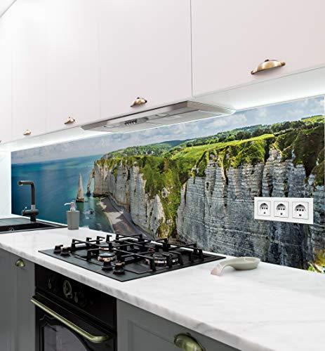 MyMaxxi   Salpicadero de cocina autoadhesivo sin taladrar   Motivo adhesivo paesaggio 03   60cm de altura   Tatuaje para la pared de la cocina   Decoración para la pared   Diseño de pared
