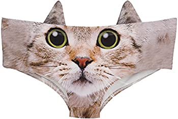 Womens Underwear Funny Panties for Women Gift Ideas for Her Valentines Gifts Cute Kitty M