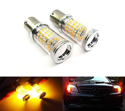 Lot de 2 ampoules à baïonnette Ambre 581 PY21W BAU15s LED réflecteur de côté clignotant clignotant arrière DRL