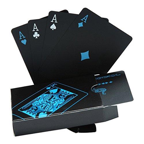 Kudos Enterprise Waterproof PVC Playing Cards Black Poker Card Classic Magic Tricks Game Card Set