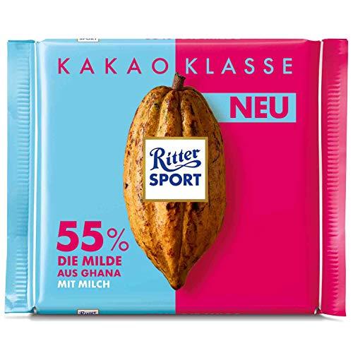 Ritter Sport Kakao Klasse 55% die Milde aus Ghana 5 x 100g