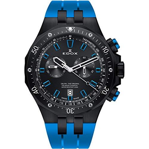 Edox Delfin The Original Reloj de Hombre Cuarzo 43mm de Goma 10109 37NBUCA NIBU