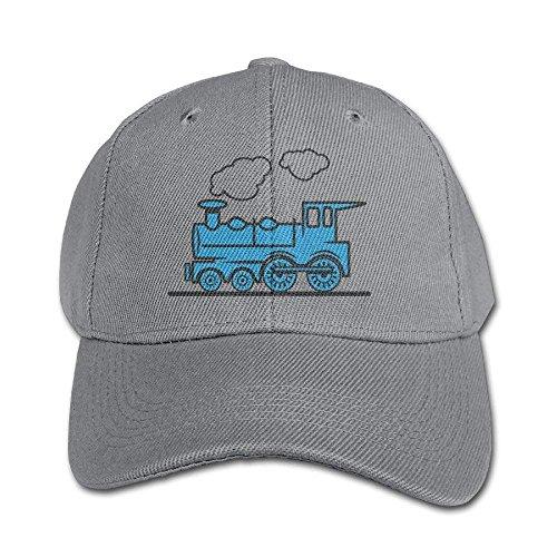 Jard-T Baseballmütze, Dampfzug und Eisenbahn, blau, für Jungen und Mädchen, Snapback, Jugendgröße