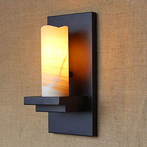 Wandlamp wijnoogst-kroonluchter-huis-retro ijzeren wand-lampen kunstmatige marmeren kaarsen lampenkap wandverlichting