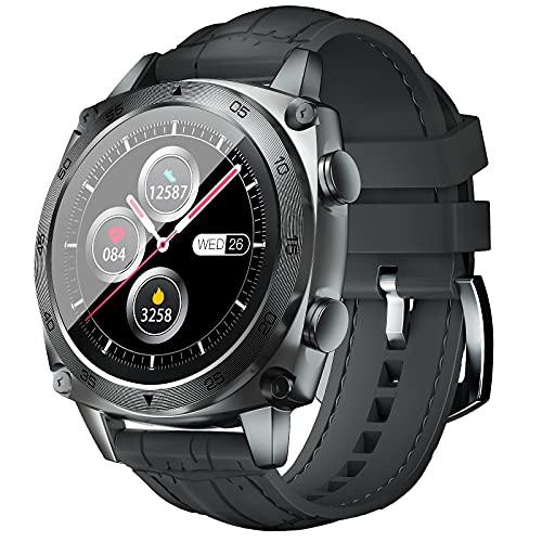 CUBOT Reloj inteligente C3, pantalla táctil de 1,3 pulgadas, rastreador de fitness, resistente al agua hasta 5 ATM, reloj de pulsera de negocios, compatible con iOS y Android, para hombre, gris