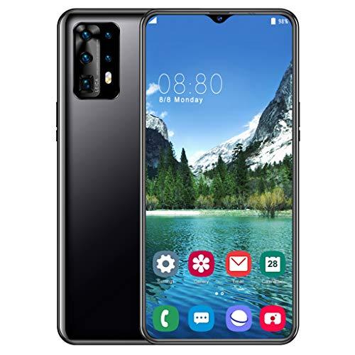 LVHC Smartphone ohne Vertrag, P40 Pro Handys Android 9.1 (6,7 Zoll) 1440P Display, 13MP +32 MP Kamera, 4G Dual SIM Ten-Core 4GB+32GB 4800mAh Akku,Schwarz