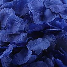 m·kvfa 1000pcs Multicolor Silk Rose Artificial Petals for Wedding Confetti Flower Girl Bridal Shower Hotel Home Party Valentine Day Flower Decoration (Blue)