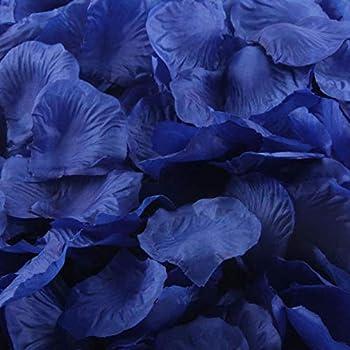m·kvfa 1000pcs Multicolor Silk Rose Artificial Petals for Wedding Confetti Flower Girl Bridal Shower Hotel Home Party Valentine Day Flower Decoration  Blue