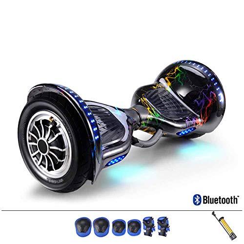 CBPE Overboard 10 Pouces Hoverboard Bluetooth, Électrique Auto-Équilibrage Scooter, Adulte Tout-Terrain Smart LED...