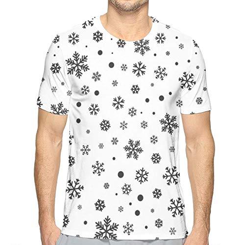 Snowflake Seamless Pattern Winter Short Sleeve Tee Novelty Teen Unisex T Shirt