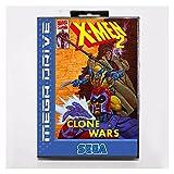 Flowing CHENZHEN X Men 2 16 bits MD Tarjeta de Juego con Caja de la Caja al por Menor para Sega Mega Drive/Genesis CZ
