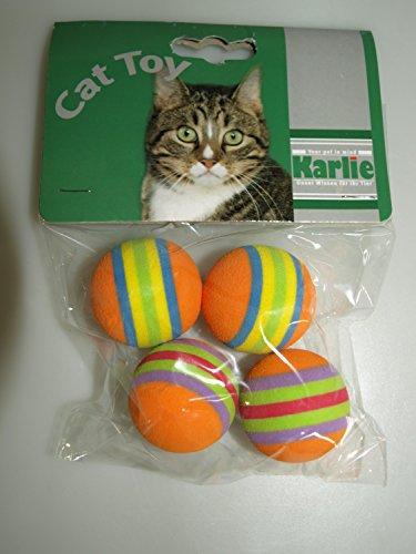 Katzenspielzeug RAINBOW SOFTBÄLLE 4 ST. IM BEUTEL, 4 CM