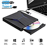 Lecteur DVD Externe USB 3.0 Graveur CD/DVD Externe,Portable USB C CD DVD +/-RW ROM...