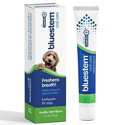 Dog Toothpaste : Vanilla Mint Flavor Tooth Paste for Dogs Teeth Brushing Cleaner Pet Breath Freshener Oral Care Dental Cleaning Kit Tartar amp Plaque Remover Brushes