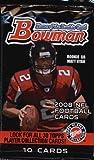 1 (One) Pack - 2008 Bowman Football Hobby Pack (10 Cards per Pack) - Possible Matt Ryan, Matt Forte, Chris Johnson, Joe Flacco, DeSean Jackson, Darren McFadd... rookie card picture