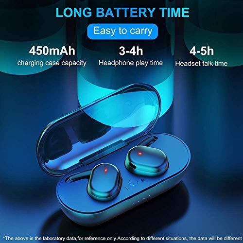 Auriculares Bluetooth,Auriculares Bluetooth con 2 micrófonos, Reproducción de 24 horas, IPX5, Reducción de ruido CVC 8.0, Auriculares inalámbricos para trabajo y viajes para PC con Android iOS - Negro miniatura