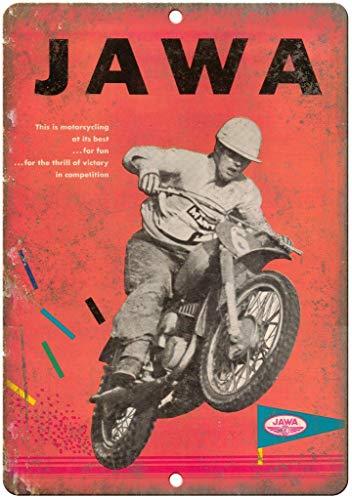niet JAWa Motorfiets Racing Tin Metalen Teken Plaque Vintage Retro IJzeren Muur Waarschuwing Poster Decor Voor Bar Cafe Store Thuis Garage Office Hotel