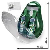 MedX5 ducha ocular de emergencia, estación de lavado ocular con espejo, producto para el lavado de ojos con suero fisiológico (0,9%), botella de solución para lavado ocular