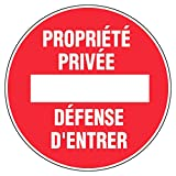 Novap , Panneau - propriété privé défense d'entrer 300 mm