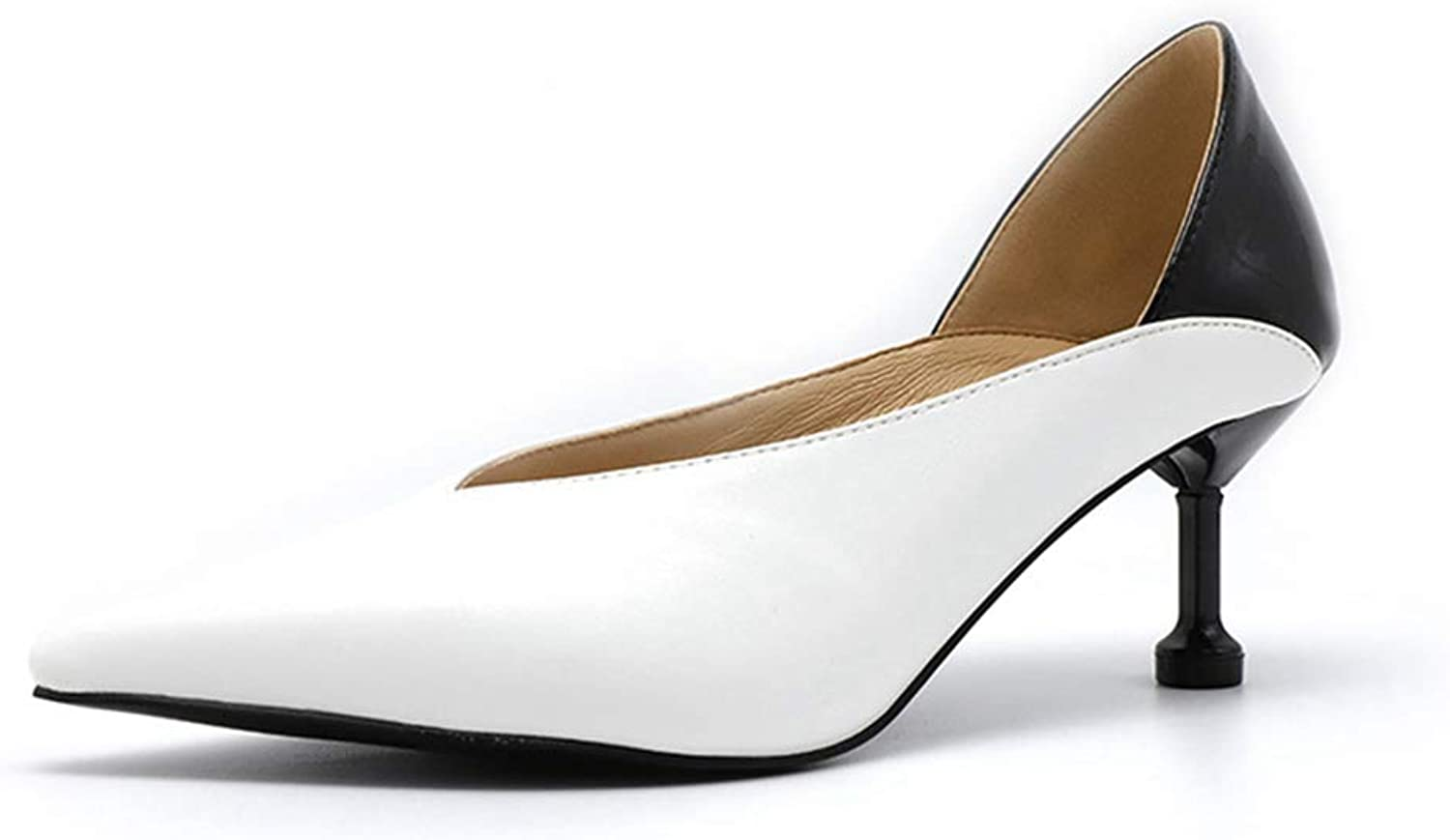 Sam Carle Women Pumps, Mixture color Kitten Heel Closed Pointed Toe Sexy Spring Wedding Party shoes
