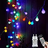 Ampoules d'extérieur à chaîne légère, 15M 120 LED avec transformateur 31V, 8 modes de guirlandes de Noël pour balcon et chambre de jardin de fête, Noël, chambre d'enfants, fête, etc. (multicolore)